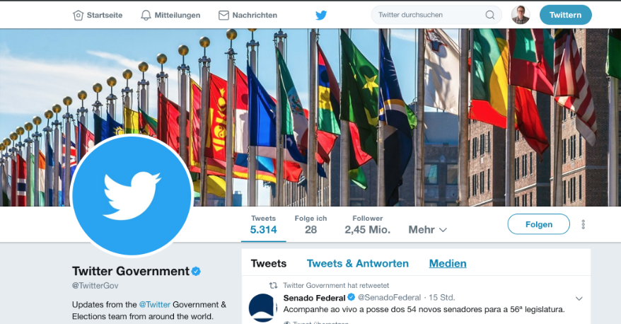 dev@cloudburo | Python Tutorial: Government Social Media Analyser