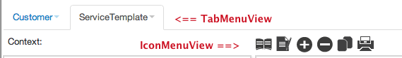 TabMenuView and IconMenuView